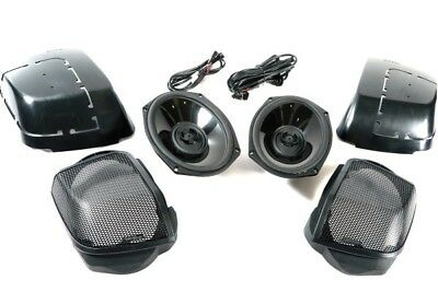 Rockford Fosgate Power TMS69BL14 Rear Audio Kit 2014-Up Harley Davidson 900907