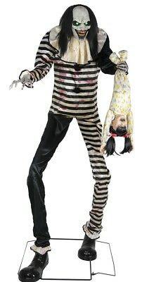 Sweet Dreams Clown Animated Prop 7' Haunted House Halloween Lifesize Decoration