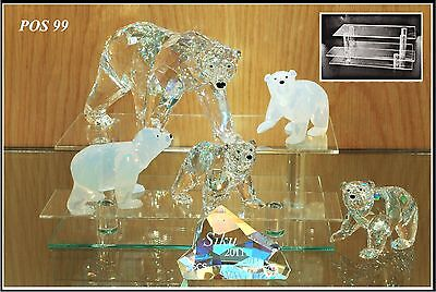 Glass display stands for Swarovski crystal POS 99 x 2