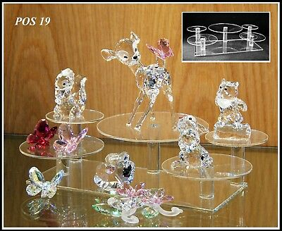Glass display stands for Swarovski crystal POS 19 x 2