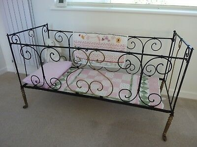 Antique Victorian Cast Iron Folding Day Bed