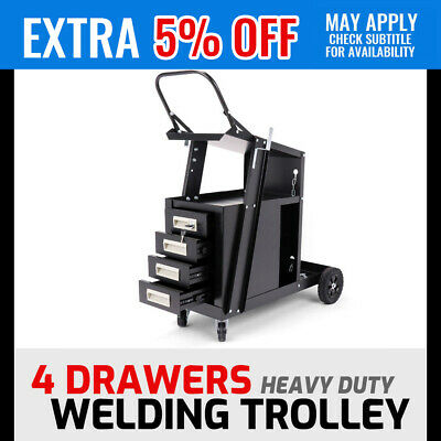4-Drawer Welding Trolley Cart Drawer Welder Cabinet MIG TIG ARC Plasma Cut Bench
