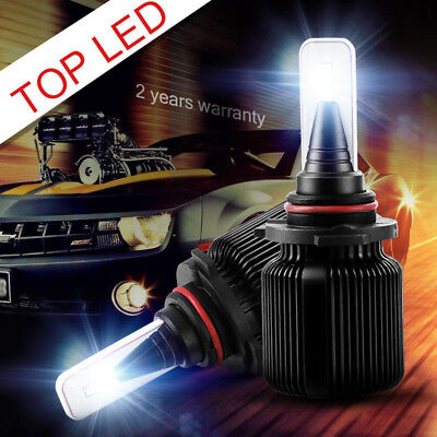 Pair 9005 HB3 9145 CSP LED Headlight Conversion Bulbs High Beam W/ Driver 8000LM