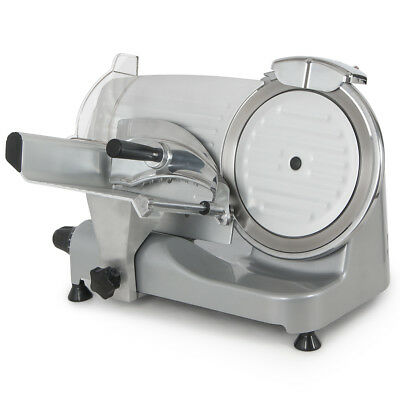 "250W Commercial Deli Meat Slicer 550RPM Food Cheese Cutter 10"" Blade Electric SS"