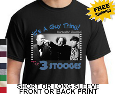 Three Stooges Duck Dynasty Pose Moe Larry Curly Nyuck Dynasty Tee Shirt S-3XL
