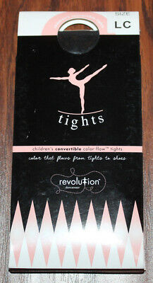New Girls REVOLUTION DANCEWEAR Color-Flow Convertible Tights ~ Black ~ LC Large