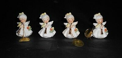 Vintage Napco Bone China Musical Angel of the Month September Clarinet