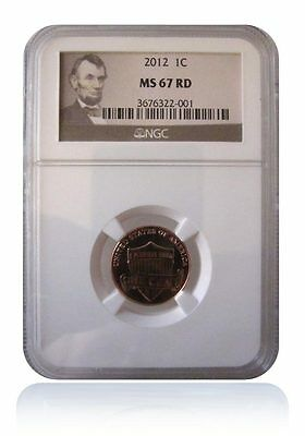 NGC MS67 RD Red 2012-P Lincoln Shield Cent Penny Gem Uncirculated Lincoln Image