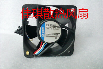 for Ebmpapst 612N/39HH DC12V 0.24mA 2.9W 6025 Server Cooling Fan