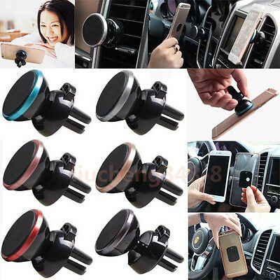 Portable Magnetic Sticky Car Mount Phone Stand Holder GPS Air Vent Clip Bracket