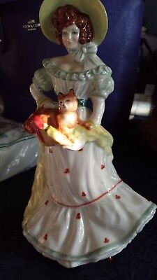 Royal Doulton Figurine Lady Jane w/Cat Limited Edition 1997