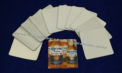 50x Square BLANK DRINKS COASTERS FOR SUBLIMATION ink printing, heat press