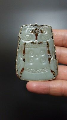 Antique Hand-carved Chinese Jade Pendant