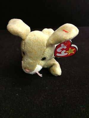 TY Beanie Baby - NIBBLY the Rabbit - Pristine with Mint Tags - RETIRED