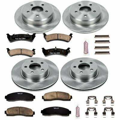 Powerstop Brake Disc and Pad Kits 4-Wheel Set Front /& Rear New for K822