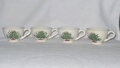 Blue Ridge Southern Potteries Christmas Tree Cups - Set of 4