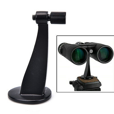 Universal Black FullMetal Adapter Mount Tripod Bracket For Binocular Telescope^F