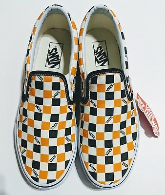 4bace5e2fb10 VANS VAULT OG CLASSIC SLIP ON TRI CHECK sz 10 WHITE BLACK GRAY Checkerboard