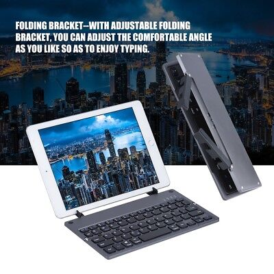 Portable Wireless Bluetooth Keyboard 78 Keys Foldable For Windows Android IOS