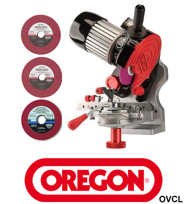 Tecomec / Oregon Chainsaw Chain Sharpener Includes All 3 Grinding Wheel To 404