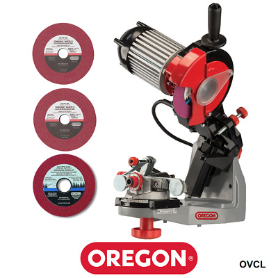 "Genuine Oregon Hydraulic Assist Chainsaw Chain Sharpener Grinder 3/4"" 3 Wheels"