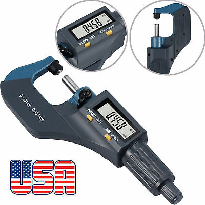 "Professional Digital Electronic Micrometer Caliper 0-1"" Metric/Standard Gauge US"