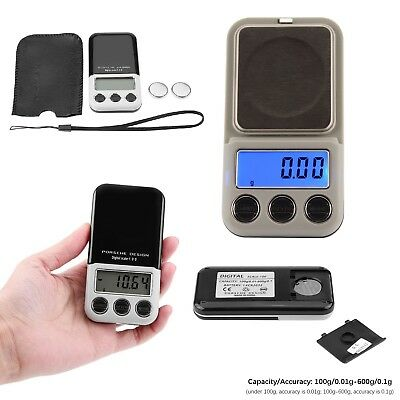 Pocket Digital 0.01g - 600g Scale Jewellery Gold Weighing Small LCD Electronic