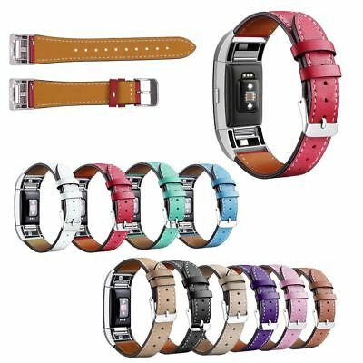 For Fitbit Charge 2 Replacement Smart Watch Strap Bracelet Leather Wrist Band