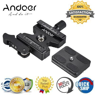 """Andoer Alloy Quick Release Clamp + QR Plate W/ 1/4"""" & 3/8"""" Screw for Arca Swiss"""