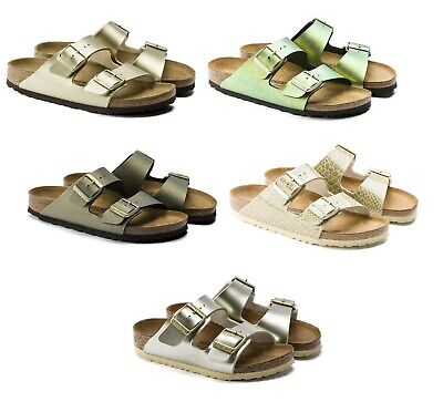 647dc7852d47 Birkenstock Arizona Gold Women s Sandals Golden Shades Washed Cream Snake  Gemm