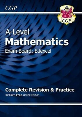 New A-Level Maths for Edexcel: Year 1 & 2 Comple by CGP Books New Paperback Book