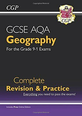 New Grade 9-1 GCSE Geography AQA Complete Revision & P by CGP New Paperback Book