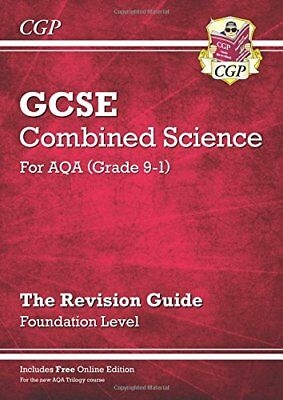 New Grade 9-1 GCSE Combined Science: AQA Revision Guid by CGP New Paperback Book