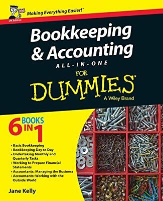 Bookkeeping & Accounting All-in-One For Dumm by Jane E. Kelly New Paperback Book