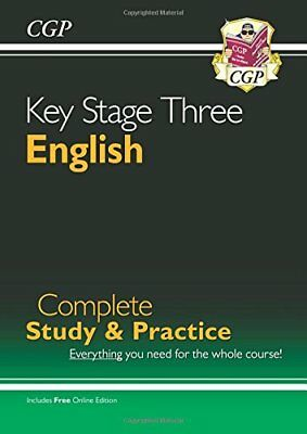 New KS3 English Complete Study & Practice (with Online by CGP New Paperback Book