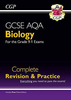 New Grade 9-1 GCSE Biology AQA Complete Revision & Pra by CGP New Paperback Book