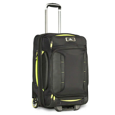 High Sierra - AT8 54cm Wheeled Duffel with Backpack Straps - Black/Zest