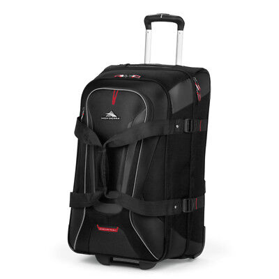 High Sierra - AT7 66cm Drop Bottom Wheeled Duffle with Backpack Straps - Black