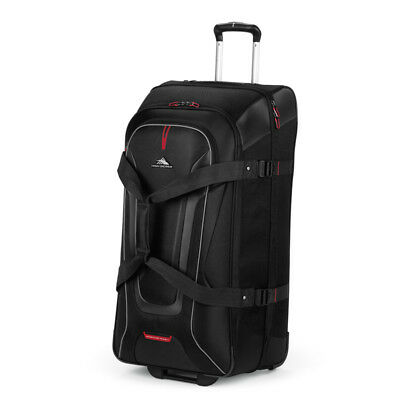 High Sierra - AT7 81cm Drop Bottom Wheeled Duffle with Backpack Straps - Black