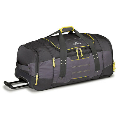 High Sierra - Ultimate Access 76cm Wheeled Duffle - Charcoal/Yellow