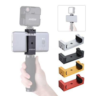 Andoer Phone Tripod Mount Adapter Bracket Holder Clip Cold Shoe for iPhone X 8 7