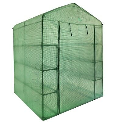 Palm Springs 12-Shelf Walk-In Greenhouse - Cover with Roll Up Zipper Door