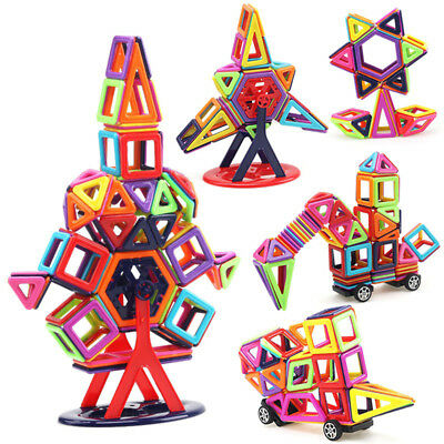 40~166Pcs Magic Magnetic Building Blocks Kids Construction Educational Toys Gift