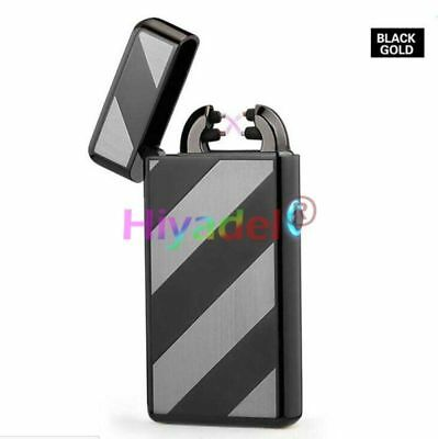 New USB Rechargeable Electric LIGHTER Double ARC PULSE Flameless Plasma Torch #n