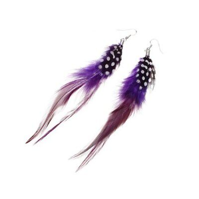1 of feather earrings Long color random G7L1