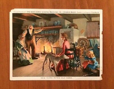 Vintage Victorian Advertising Trade Card, New Home Sewing Machine Co, Orange MA
