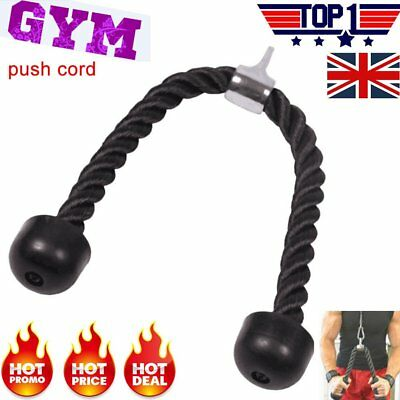 Durable Tricep Rope Push Pull Down Cord Multi Gym Exercise Cable Attachment UK