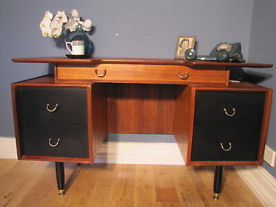 Mid Century G Plan E Gomme  Librenza Tola Wood Dressing Table Desk C.1958's