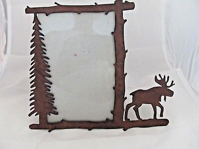 LASER CUT METAL Moose Crossing Sign 7.5 inch wall art - made in the ...