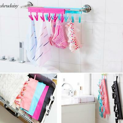 Folding Clothes Cloth Hanger Travel Portable Fabric Socks Towel Hanger S5DY